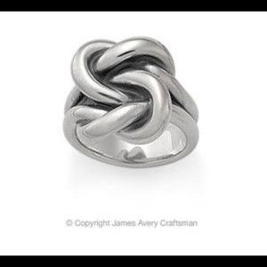 Retired James Avery Rare Bold Lover's Knot Ring
